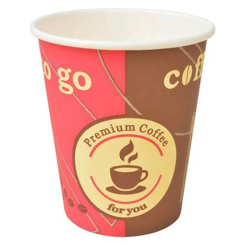 1000 Stk. Einweg-Kaffeebecher Pappe 240 ml (8 oz)