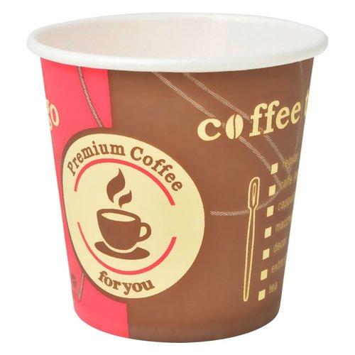 1000 Stk. Einweg-Kaffeebecher Pappe 120 ml (4 oz)
