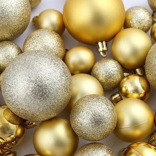 100-tlg. Weihnachtskugel-Set 6 cm Golden