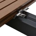 100 Stk. Deckclips mit 200 Schrauben Edelstahl