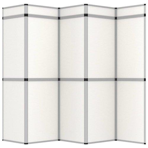 10-Paneel-Promotionswand Klappbar Weiß