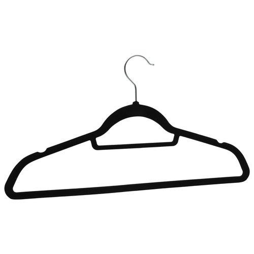 100 Stk. Kleiderbügel-Set Anti-Rutsch Schwarz Samt