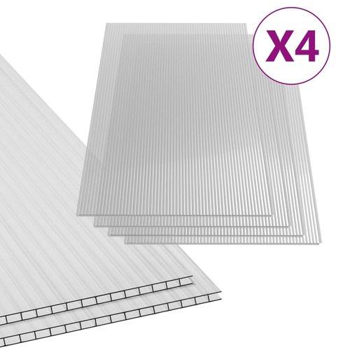 Polycarbonatplatten 4 Stk. 4 mm 121×60,5 cm