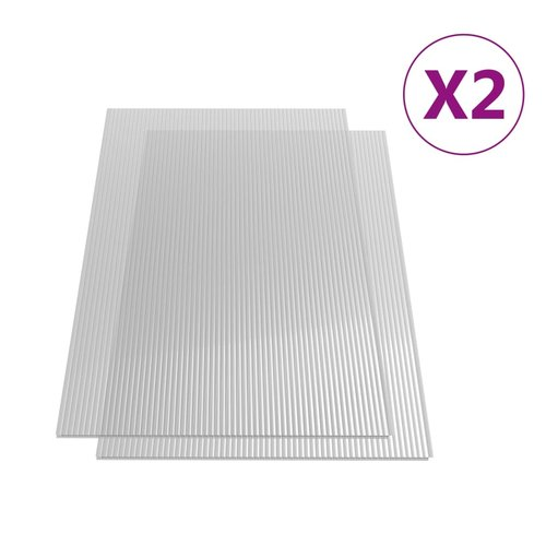 Polycarbonatplatten 2 Stk. 4 mm 121×60,5 cm