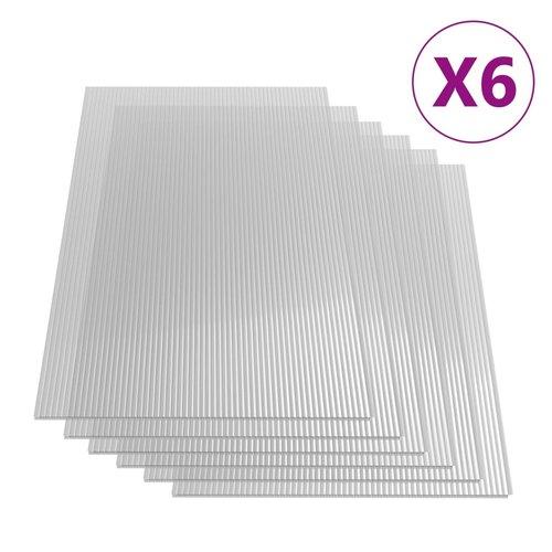 Polycarbonatplatten 6 Stk. 4 mm 113×60,5 cm