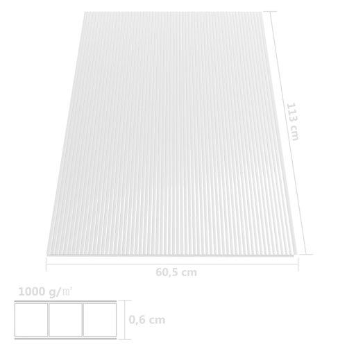 Polycarbonatplatten 2 Stk. 6 mm 113×60,5 cm