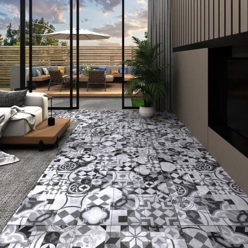 PVC-Laminat-Dielen 4,46 m² 3 mm Selbstklebend Grau Muster