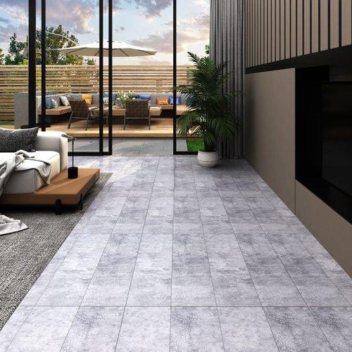 PVC-Laminat-Dielen 4,46 m² 3 mm Selbstklebend Zementgrau