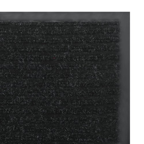 Rutschfeste Fußmatte mit  -Unterseite 1,2 x 10 m Schwarz