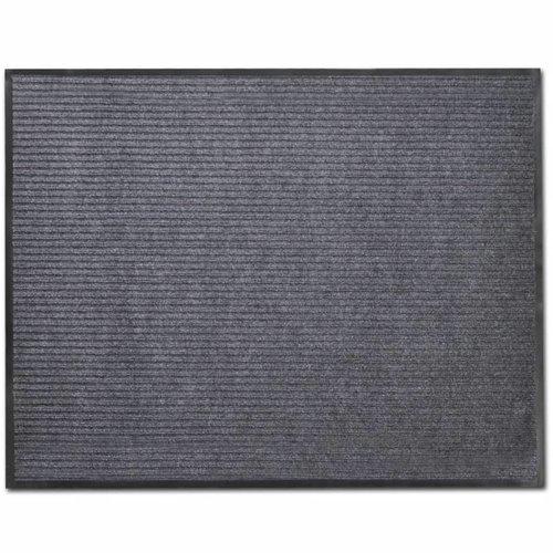 Graue PVC Türmatte 90 x 150 cm