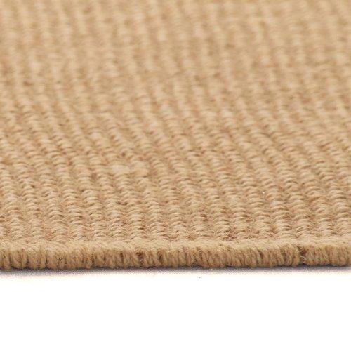 Teppich Jute mit Latexrücken 120 x 180 cm Naturfarben