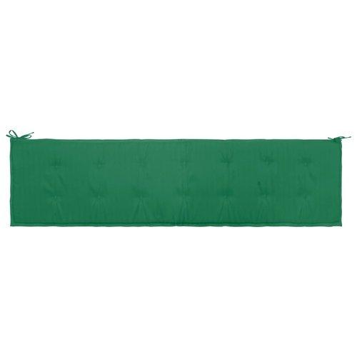 Gartenbank-Auflage Grün 200×50×3 cm