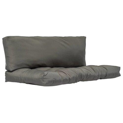 Palettenkissen 2-tlg. Grau Polyester