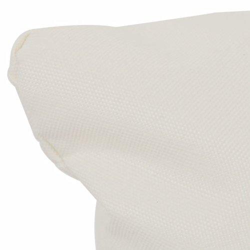 4-tlg. Kissenset für Schaukelstuhl Cremeweiß Stoff