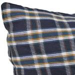 4-tlg. Kissenset für Schaukelstuhl Blau und Weiß Stoff