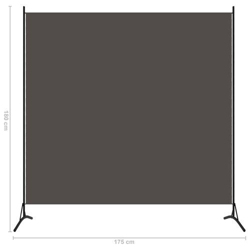 1-tlg. Raumteiler Anthrazit 175x180 cm