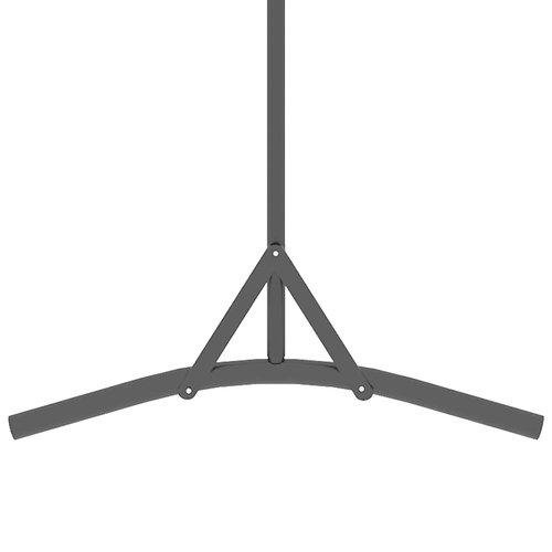 1-tlg. Raumteiler Braun 175x180 cm