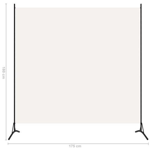 1-tlg. Raumteiler Weiß 175x180 cm