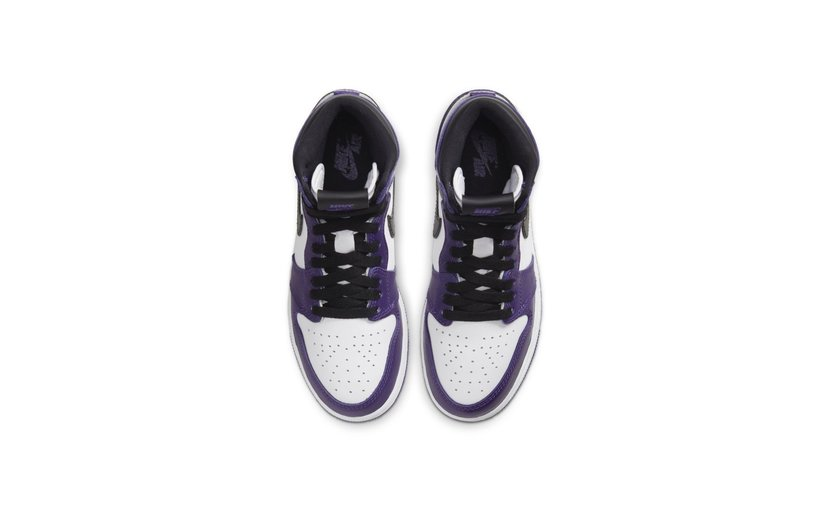 Jordan Air Jordan 1 High 'Court Purple White' (GS)