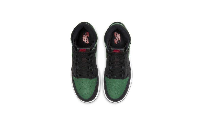 Jordan Air Jordan 1 High 'Pine Green Black' (GS)