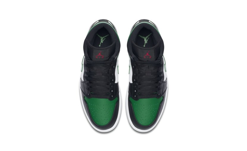 Jordan Air Jordan 1 Mid 'Pine Green Toe'
