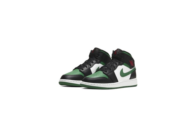 Jordan Air Jordan 1 Mid 'Pine Green Toe' (GS)