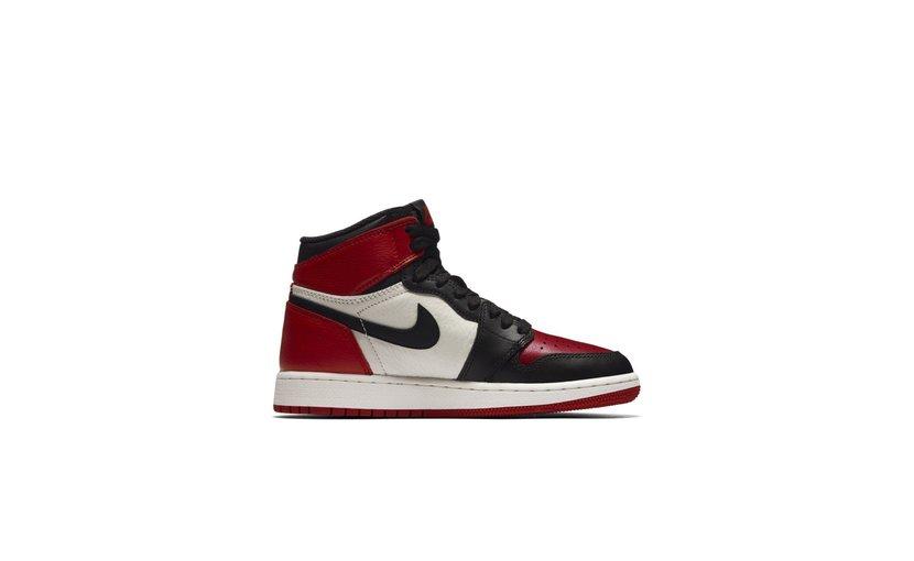Jordan Air Jordan 1 High 'Bred Toe' (GS)