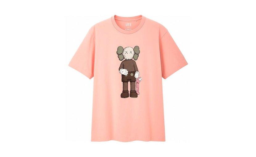 Uniqlo KAWS Companion T-Shirt Pink
