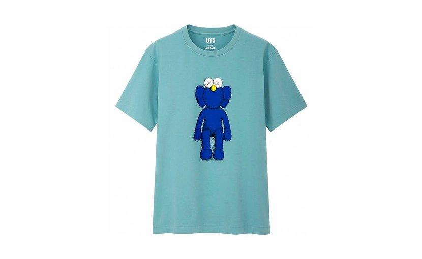 Uniqlo KAWS Blue BFF T-Shirt 'Green'