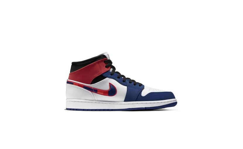 Jordan Air Jordan 1 Mid 'Multi-Color Swoosh'