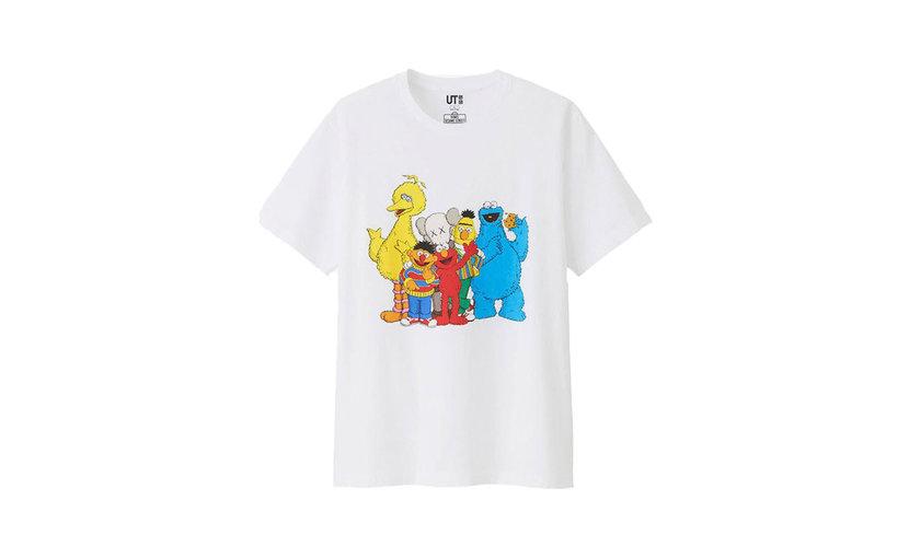 Uniqlo KAWS x Uniqlo x Sesame Street Group #2 T-Shirt 'White'
