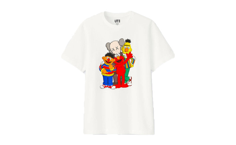 Uniqlo KAWS x Uniqlo x Sesame Street Group T-Shirt 'White'