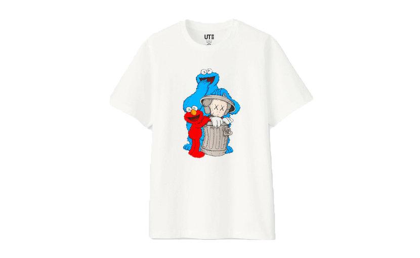 Uniqlo KAWS x Uniqlo x Sesame Street Companion Trash Can T-Shirt 'White'