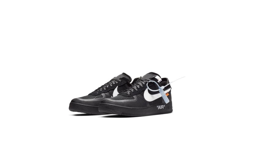 Nike Off-White Air Force 1 Low 'Black White'