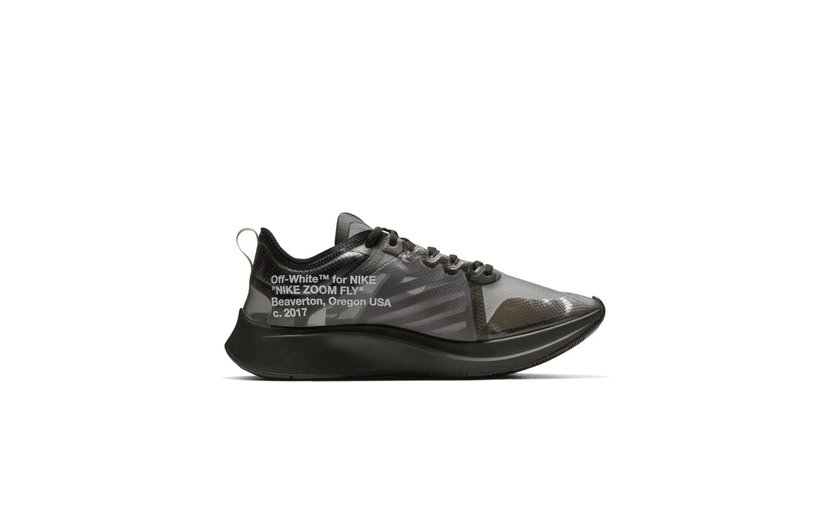 Nike Off-White Zoom Fly 'Black Silver'