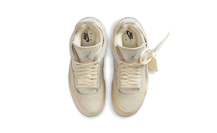 Jordan Air Jordan 4 x Off-White 'Sail' (W)