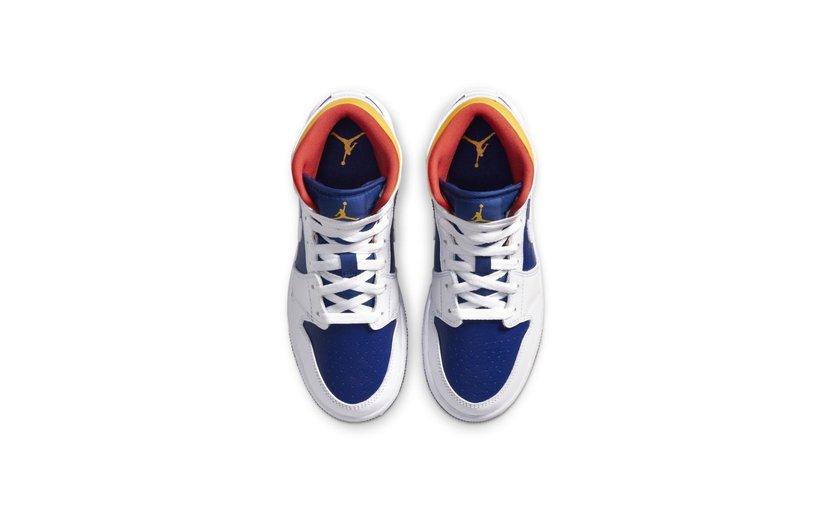 Jordan Air Jordan 1 Mid 'Royal Blue Laser Orange' (GS)