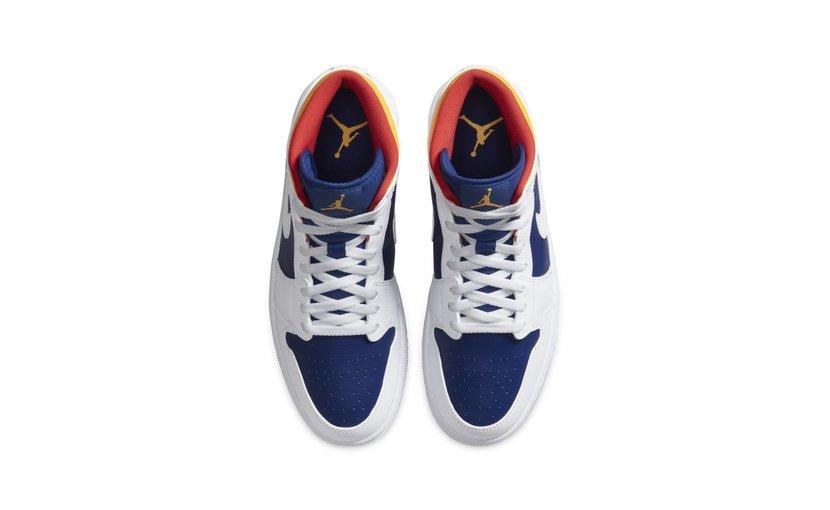 Jordan Air Jordan 1 Mid 'Royal Blue Laser Orange'