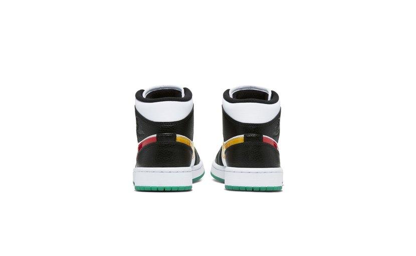 Jordan Air Jordan 1 Mid 'Alternate Swooshes Red Yellow' (W)