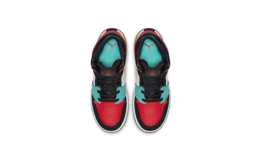 Jordan Air Jordan 1 Mid 'Bred Multi-Color' (GS)