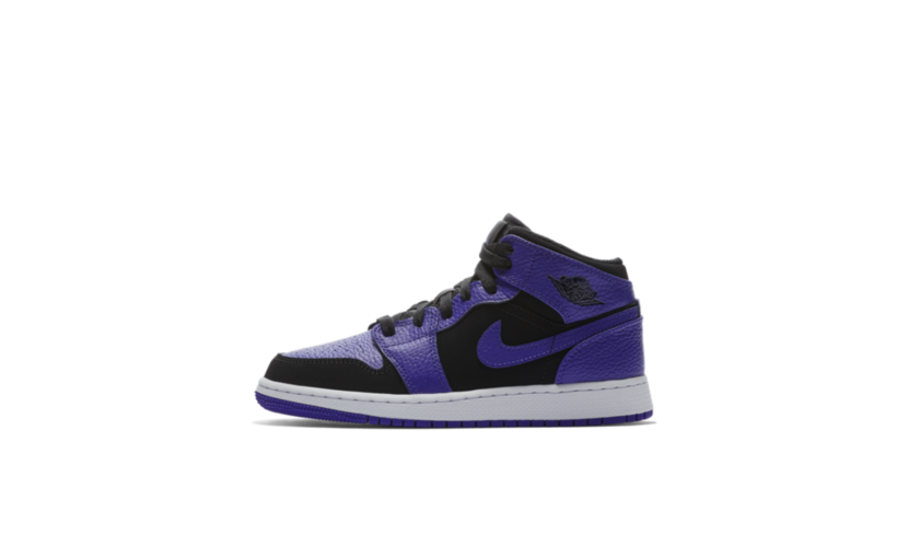 Jordan Air Jordan 1 Mid 'Black Dark Concord' (GS)