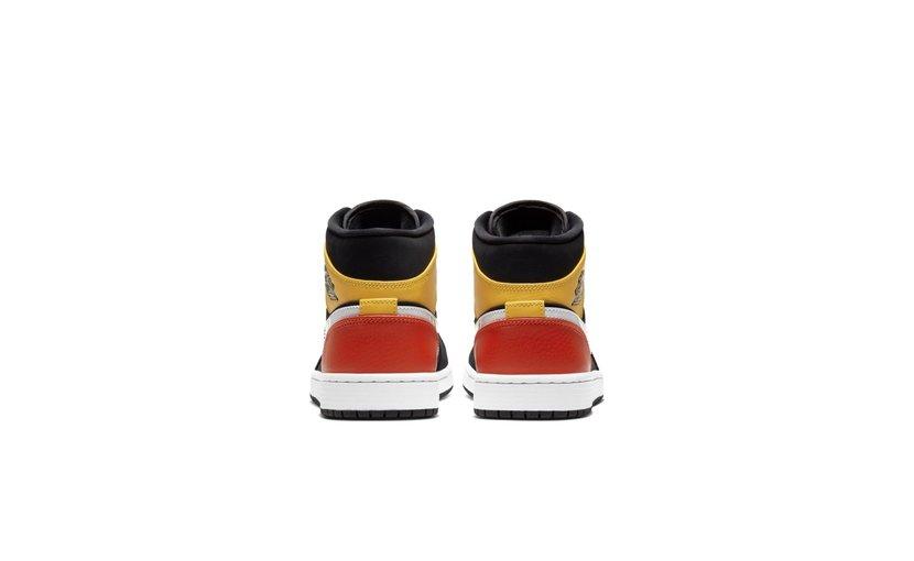 Jordan Air Jordan 1 Mid 'Black Amarillo Orange'