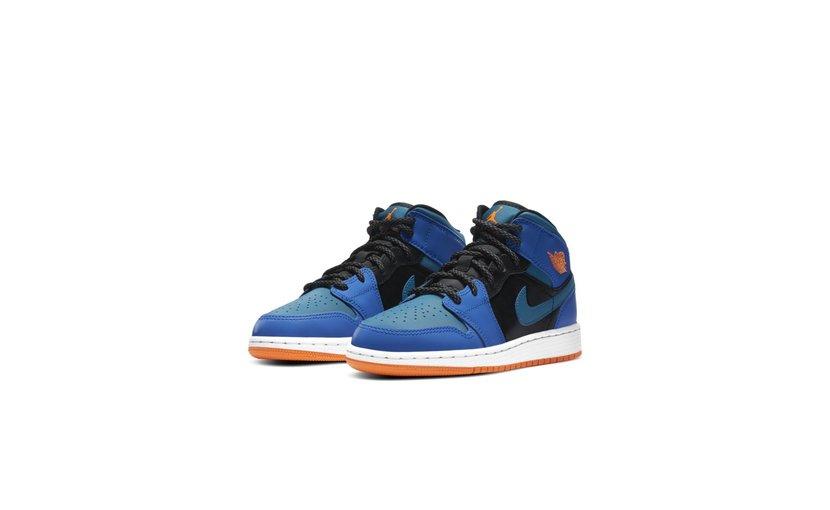 Jordan Air Jordan 1 Mid 'Blue' (GS)