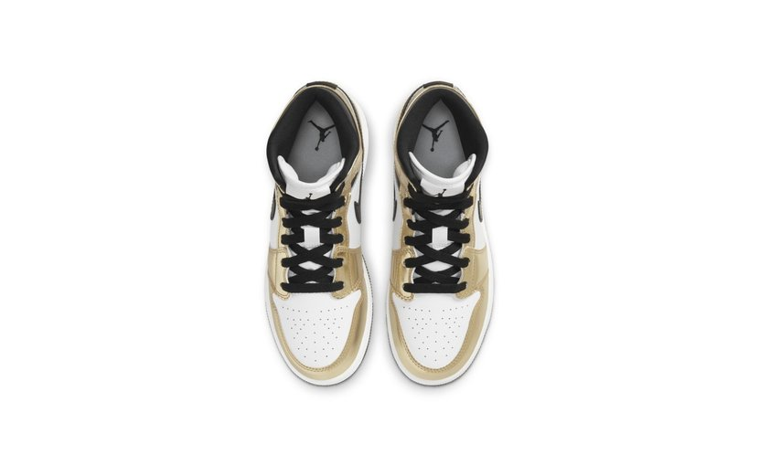 Jordan Air Jordan 1 Mid 'Metallic Gold' (GS)