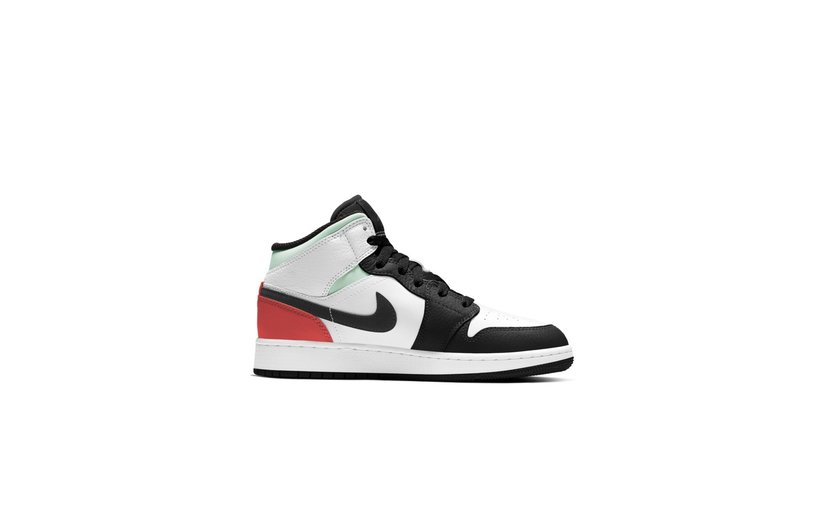 Jordan Air Jordan 1 Mid 'SE White Black Red Spruce' (GS)