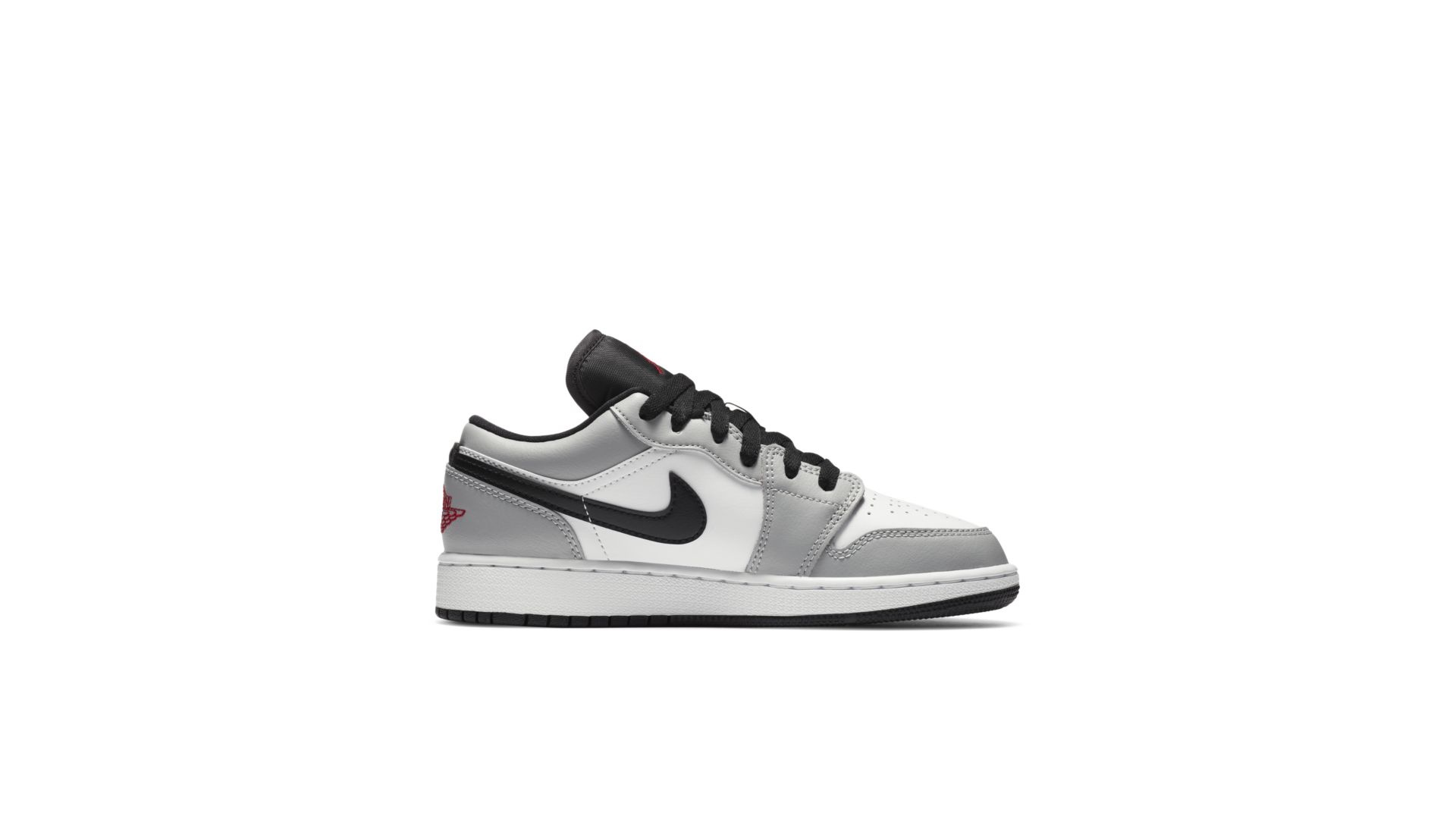 Air Jordan 1 Low Light Smoke Grey Gs Sneakin