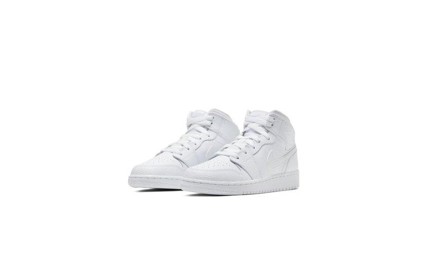 Jordan Air Jordan 1 Mid 'Triple White' (GS)