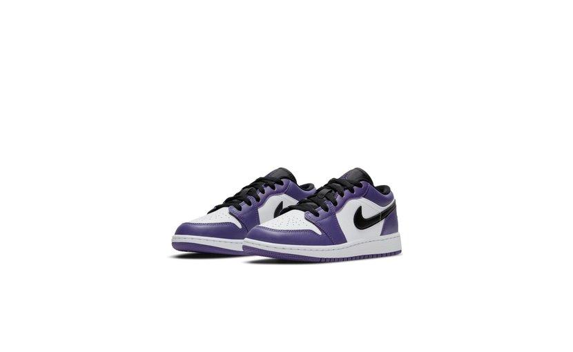 Jordan Air Jordan 1 Low 'Court Purple White' (GS)