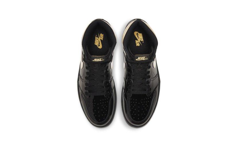Jordan Air Jordan 1 High 'Black Metallic Gold' (2020)