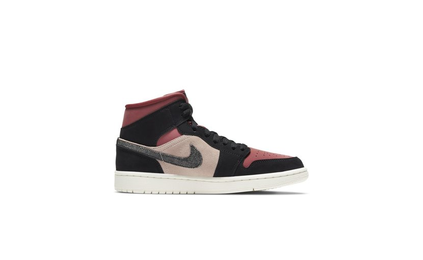 Jordan Air Jordan 1 Mid 'Burgundy Dusty Pink' (W)